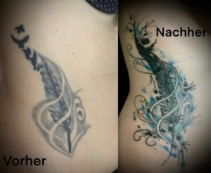 QueegQueg Tattoo Cover up Feather