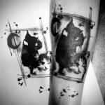 QueegQueg Tattoo Black Cat