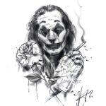 QueegQueg Tattoo Sketch Joker