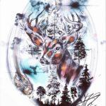 QueegQueg Tattoo Sketch Deer
