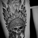 QueegQueg Tattoo Indian Skull