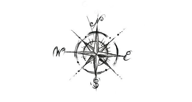 QueegQueg Tattoo Kompass